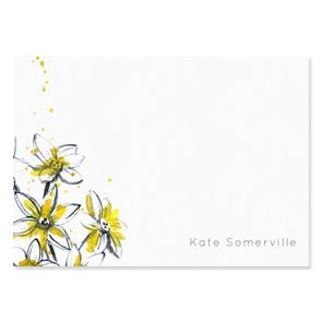 Tetbury Floral Correspondence Cards - Paper Lillies
