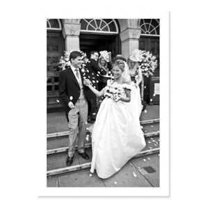 Folded Wedding Photo Cards - Blank Inside