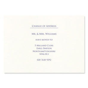 A6 Change Of Address Cards - Flat Printed