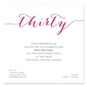 Flirty Thirty Invites