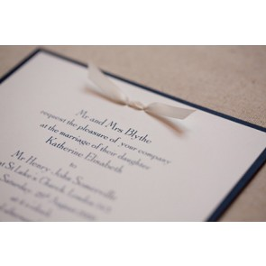 Victoria Square Invitation with Ribbon