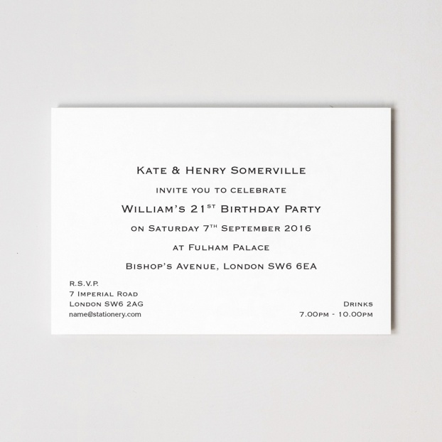 "8"" x 6"" Formal Invitations"