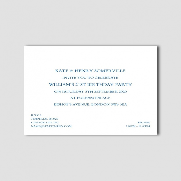 "4"" x 6"" Formal Invitations"