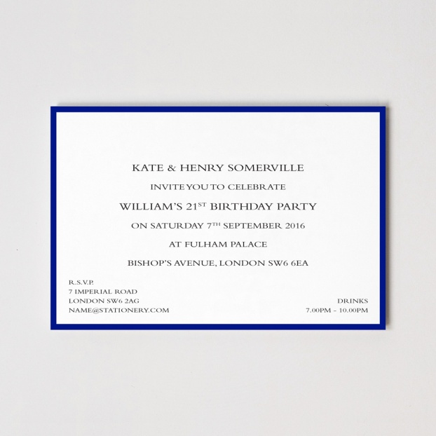 Colour Border Invitations
