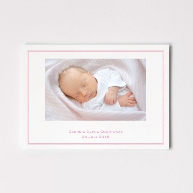 Postcard Birth Announcement