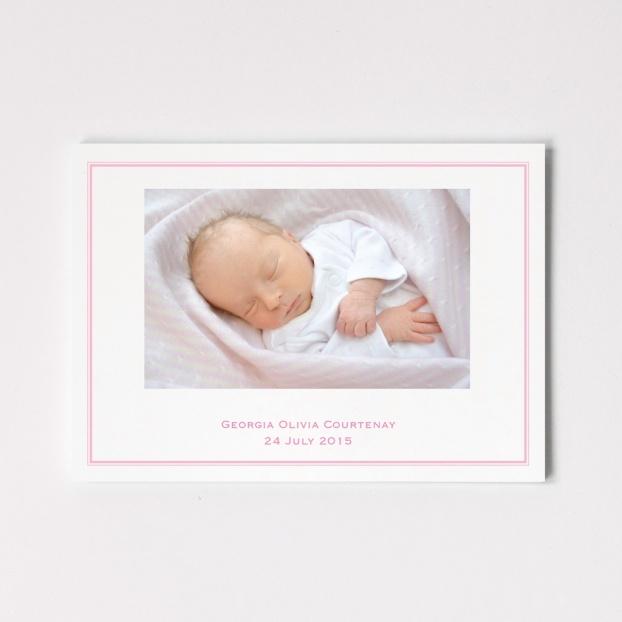 Photograph Announcement - Postcard