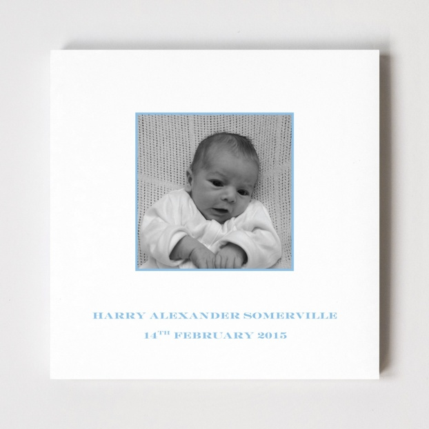 Square Photo Birth Announcement