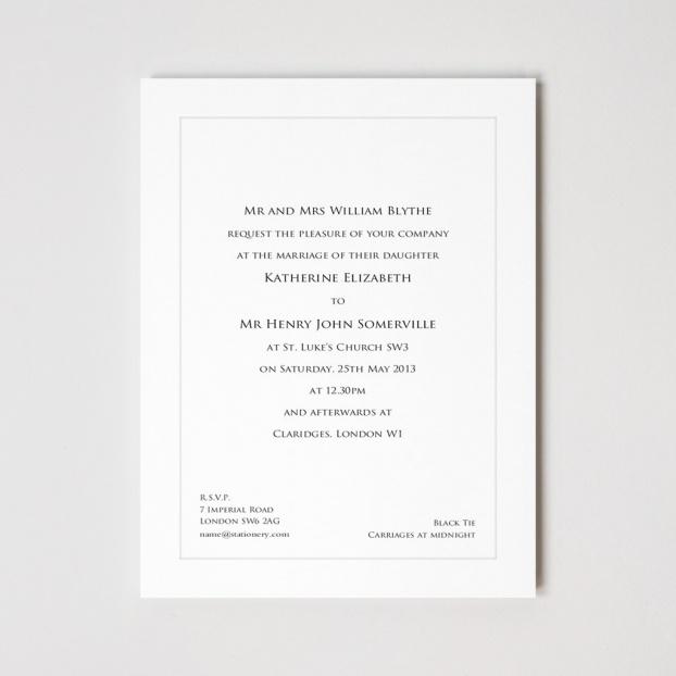 Belgravia Indented Invitation