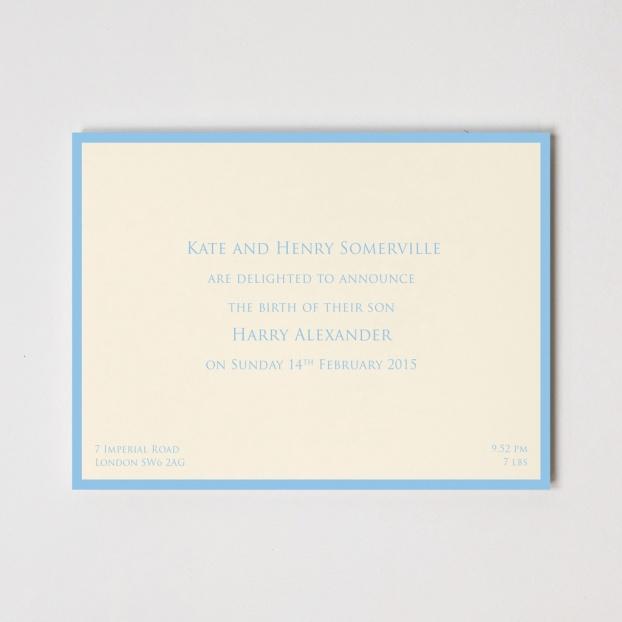 Birth Announcement Border Cards
