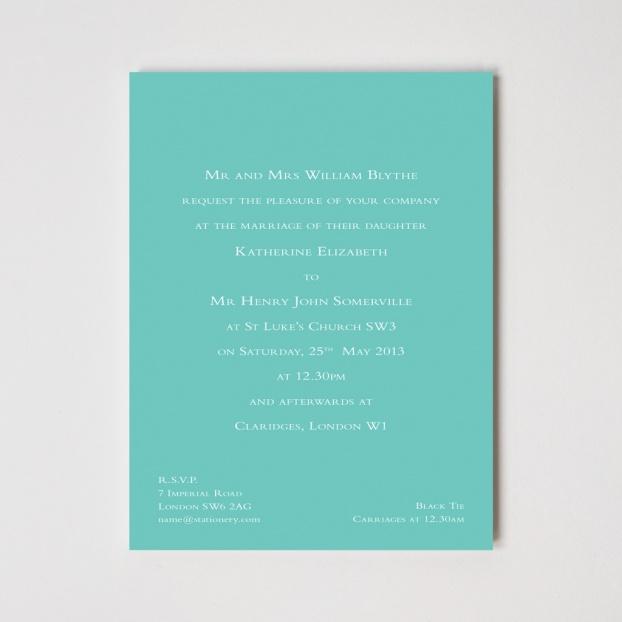 Bloomsbury Foil Invitation