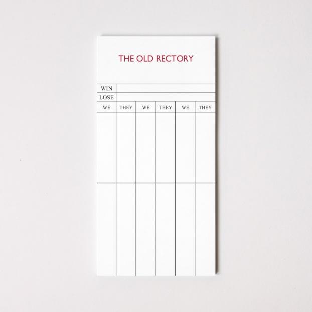 Personalised Bridge Score Sheets