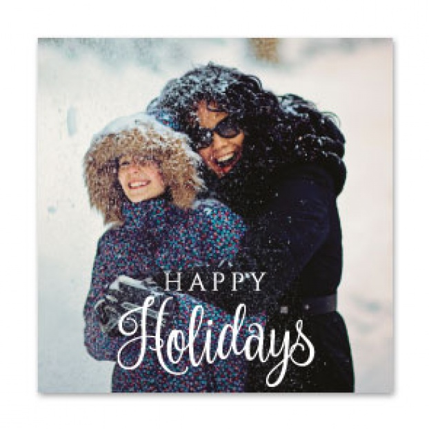 "Caligraphy Series ""Happy Holidays"" Card"