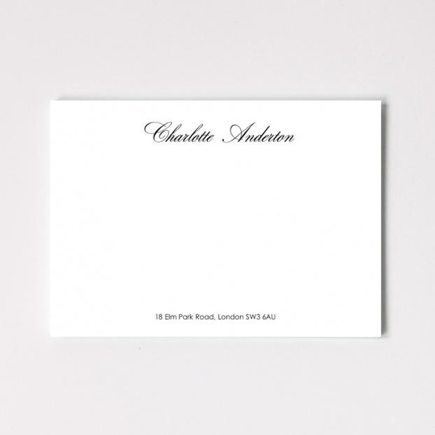 Calligraphy Correspondence Cards