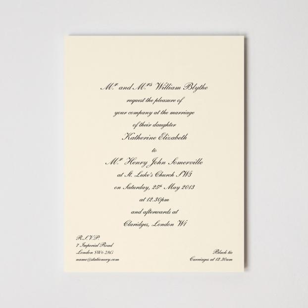 Chelsea Premium Invitation Oyster
