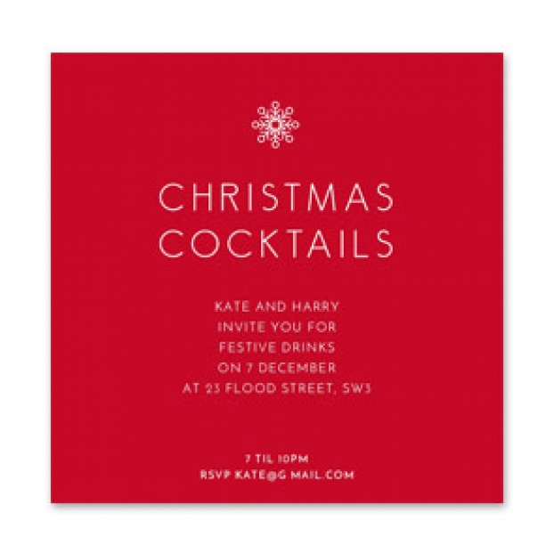 'Christmas Cocktails' Invitation