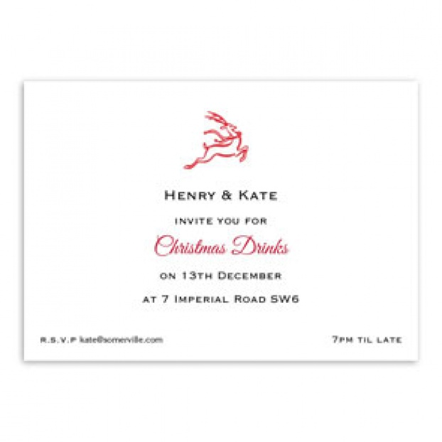 Christmas Motif A6 Invitations