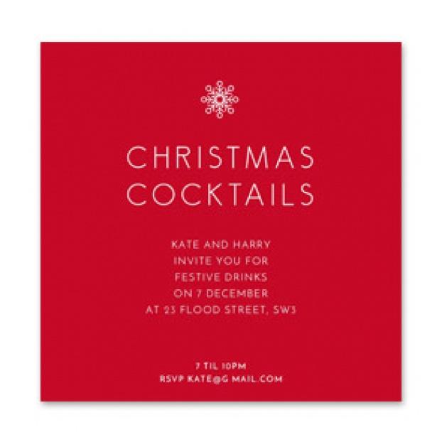 'Christmas Cocktails' Invitation