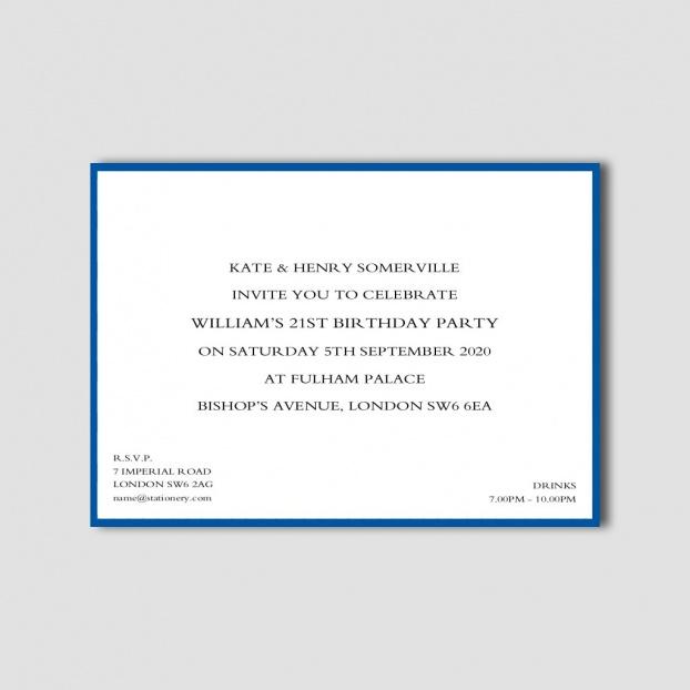 Colour Border Invitations