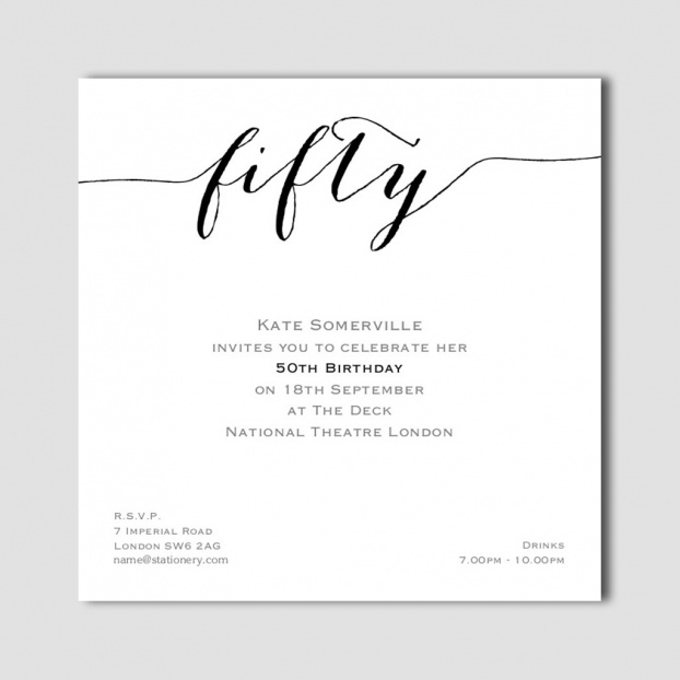Flirty Fifty Invites