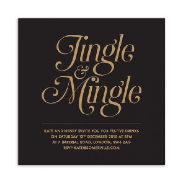 Jingle & Mingle Invitation