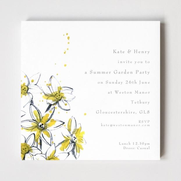 Paper Lillies Tetbury Floral Invitations