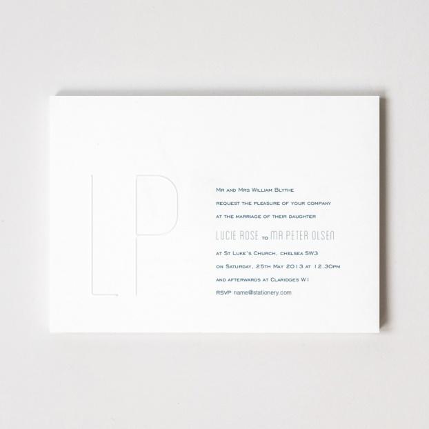 Lucie Rose Monogram Invitation