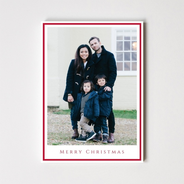 "Border Series ""Merry Christmas"" Card"