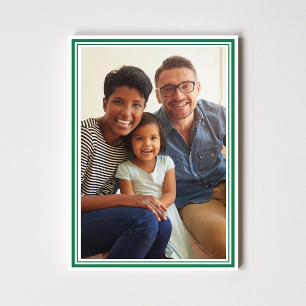 Christmas Double Border Cards - Mount Your Photo