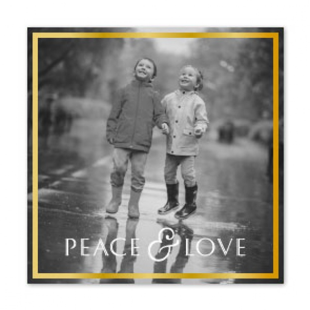 "Border Series ""Peace & Love"" Folded Card Foiled"