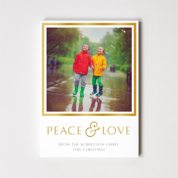 Border Series 'Peace & Love' Christmas Card