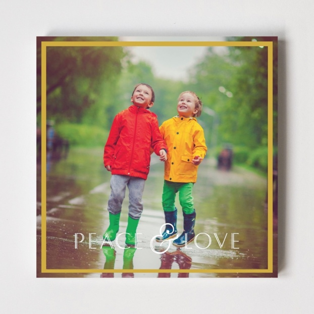 Border Series 'Peace & Love' Folded Card Foiled