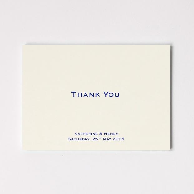 Wedding Thank You Folded Card