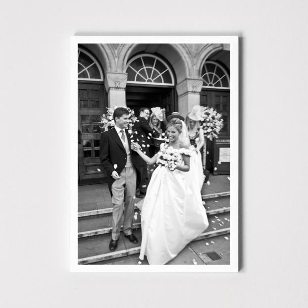 Folded Wedding Photo Cards - Blank Inside