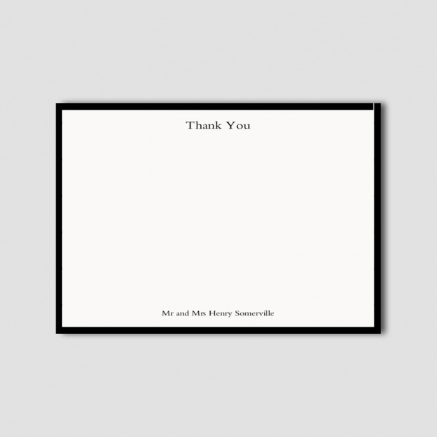 Wedding Thank You Border Card